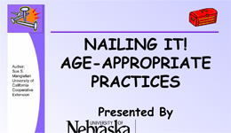 Nailing It! Age-Appropriate Practices